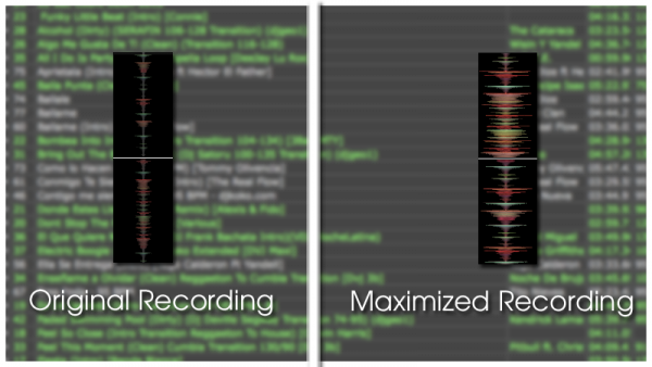 maximize the volume of your recordings