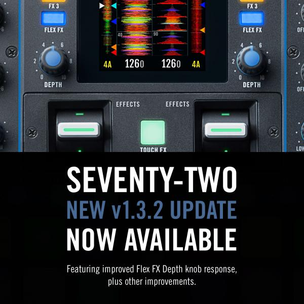 RANE SEVENTY-TWO NEW FIRMWARE UPDATE VERSION 1.3.2 NOW AVAILABLE!