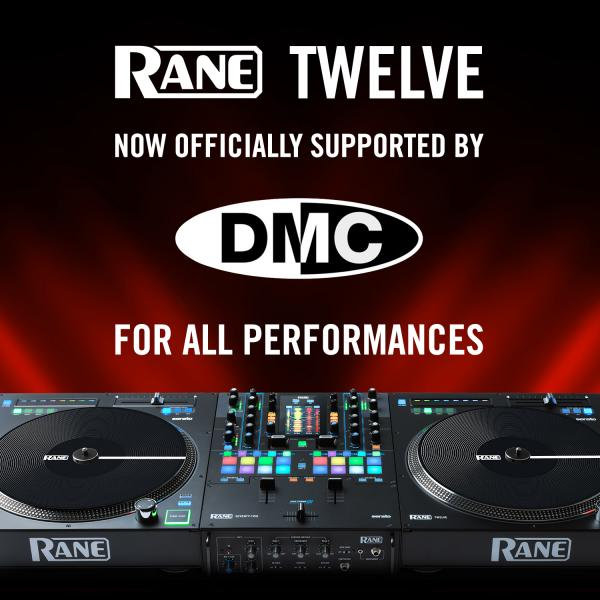 RANE® TWELVE MOTORIZED TURNTABLE CONTROLLER OFFICIALLY ACCEPTED AS PERFORMANCE HARDWARE BY DMC