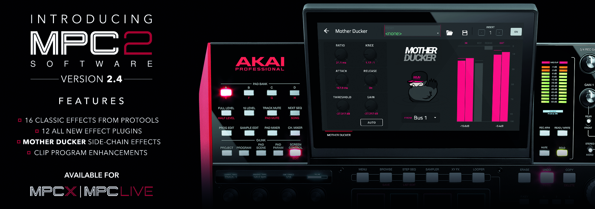 AKAI PROFESSIONAL Greatly Expands the Standalone MPC