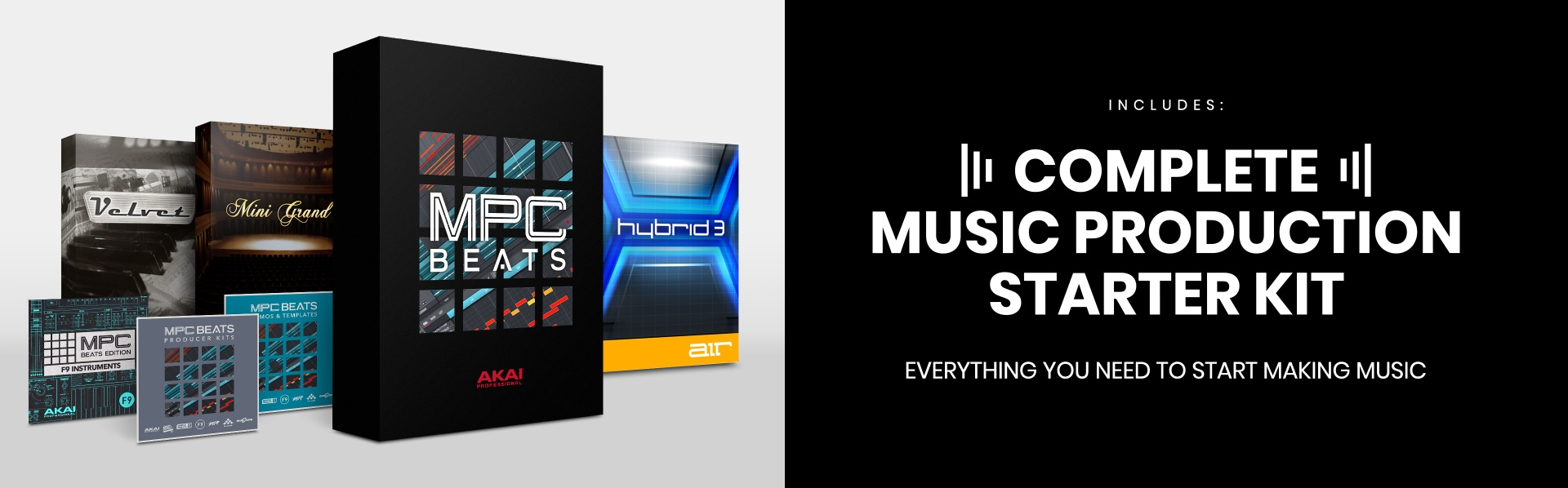 Complete music production software package to make beats