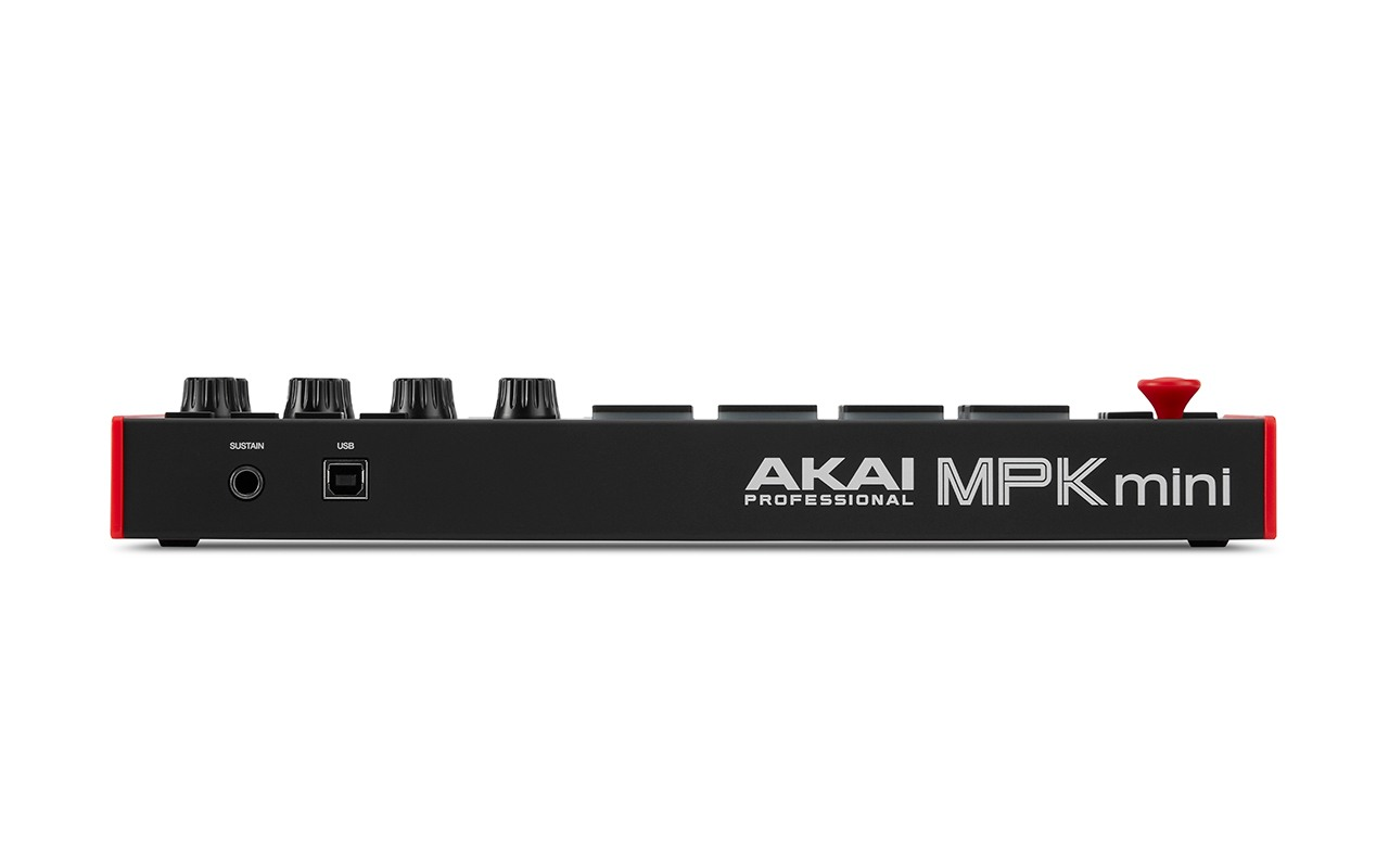 Rear view of MPK Mini MIDI Controller for DAW