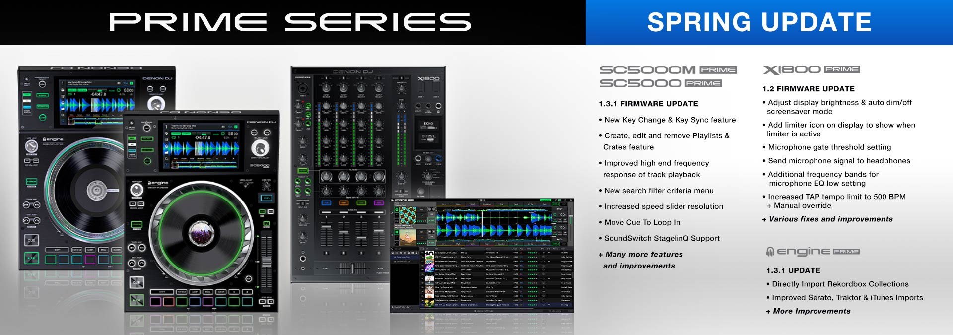 Spring Firmware Update 2019 for Denon DJ Prime Series