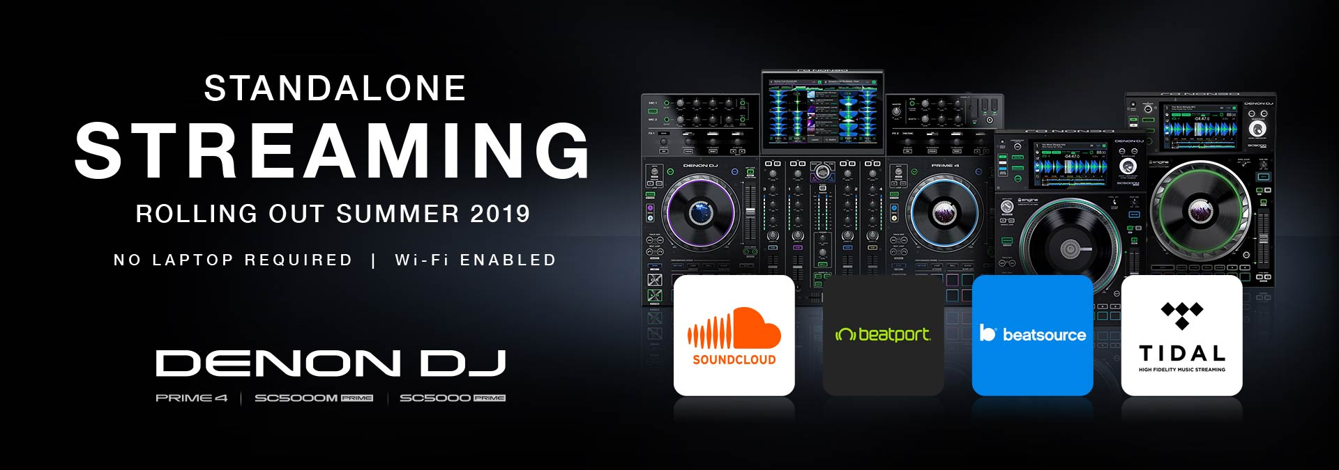 Denon DJ announces world's first streaming capability in standalone DJ hardware