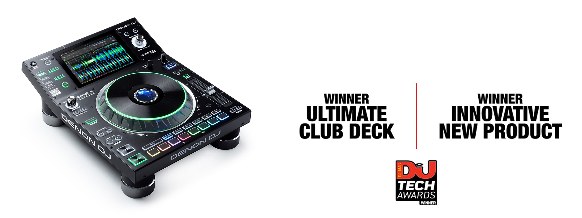 SC5000 PRIME - winner of 'Ultimate Club Deck' and 'Innovative New Product' in the DJ Mag Tech Awards