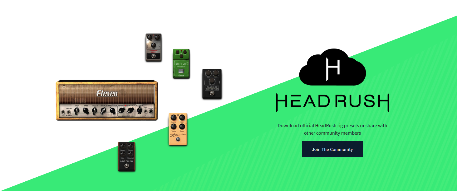 Visit HeadRush Cloud and discover official HeadRush rig presets or share with other community members