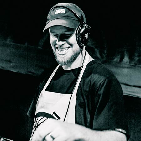 DJ Skratch Bastid performing at the Bastid's BBQ on the RANE TWELVE and SEVENTY-TWO
