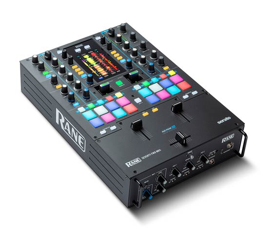 SEVENTY-TWO MKII Professional, premium 2 Channel Mixer for Serato DJ with Multi-Touch Screen, external tension adjust and Performance Pads
