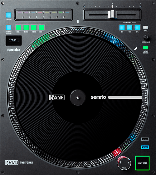 12 inch motorized turntable DJ controller with a true vinyl-like touch