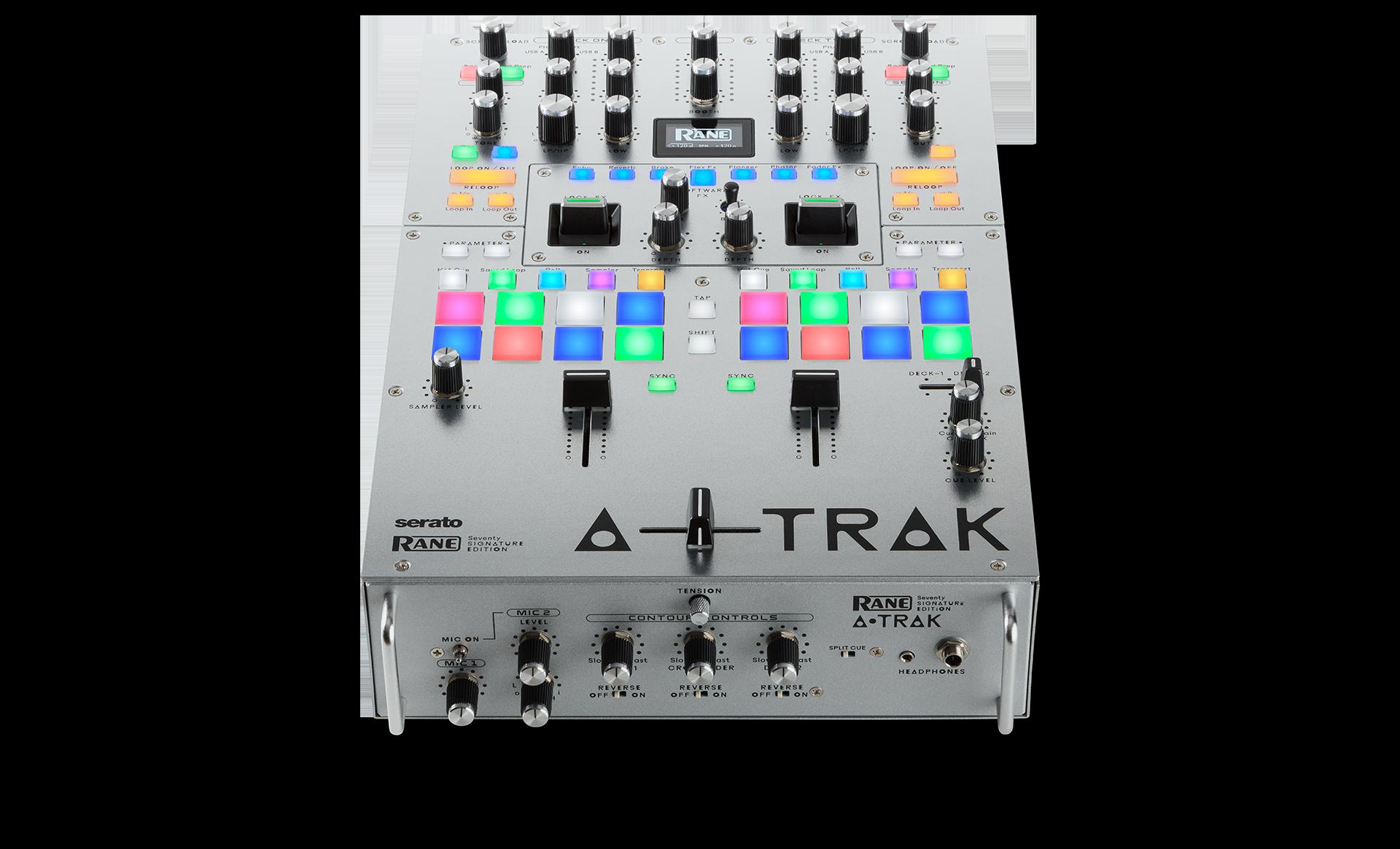 Top angle view of SEVENTY A-TRAK SIGNATURE EDITION DJ Battle Mixer